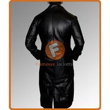 hugh jackman gabriel van helsing leather trench coat men s black trench coat long