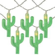 Northlight 10ct Battery Operated <b>Cactus</b> Summer <b>LED</b> String <b>Lights</b> ...