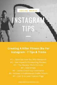 fitness bio for insram tips list
