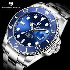 Pagani Design Watch 2019 New Pagani Design Brand Luxury Automatic Mechanical Watch Men Stainless Steel Waterproof Business Mens Mechanical Watches