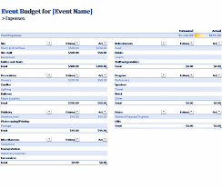 budgets sample event budget office templates