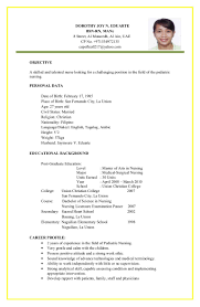 Stunning Resume For Nurses Applying Abroad Contemporary Simple