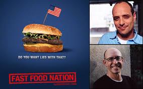 dark times eric schlosser michael pollan discuss a nation of  still from fast food nation plus schlosser and pollan photos