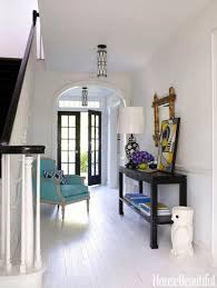 white foyer table. Small Foyer Decorating Ideas With White Laminate Flooring And Table Also Chair A
