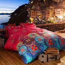 luxury boho bedding sets queen king size bedclothes bohemian duvet cover set duvet cover set bedsheet pillowcase bed set white duvet set black and white