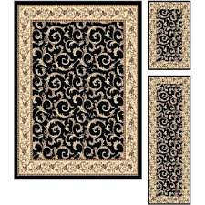 black and gold area rug lovely brown and black area rugs 3 piece set ivory gold black and gold area rug