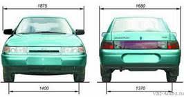 Дипломная работа Электронная система зажигания автомобиля ВАЗ  Габаритные размеры автомобиля ВАЗ 2110