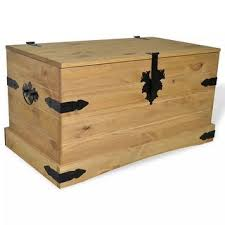 "Shop vidaXL <b>Storage Chest Mexican</b> Pine Corona Range 35.8""x19 ..."