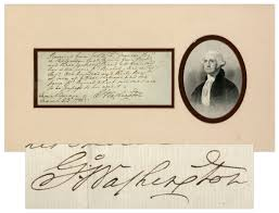Image result for George Washington signature