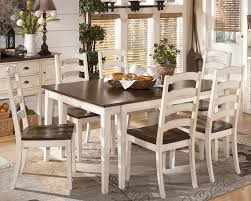 Cottage White Dining Set Country Style Solid Wood Dining Room