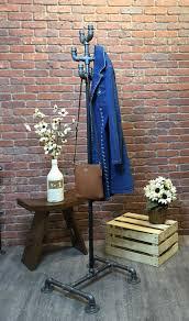 Vintage Style Coat Rack Industrial Coat Rack Stand Vintage Style Clothing Pipe Rack 74