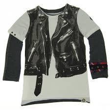 mini shatsu boys white black rock leather jacket vest twofer shirt 2t 8 sophia s style