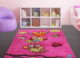 kids pink rug modern design carpet soft children bedroom