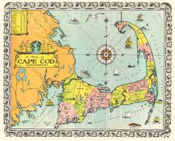 old cape cod map download colorful  cape cod mass