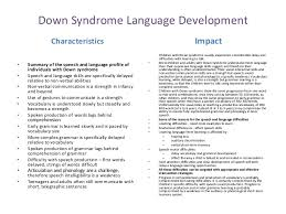 atypical child development down syndrome