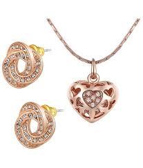 gold plated swiss zircon 18k heart shaped pendant set by kaizer jewelry