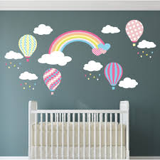 hot air baloon wall decor for baby room