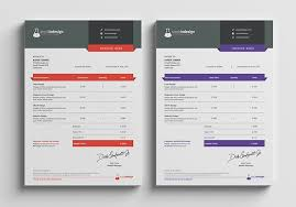 invoice template design clean invoice template stockindesign