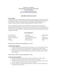 Loss Prevention Manager Job Description Resume Resume Template
