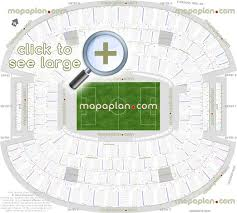 At T Stadium Seat Row Numbers Detailed Seating Chart