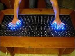 infinity table. led coffee table - arduino infinity