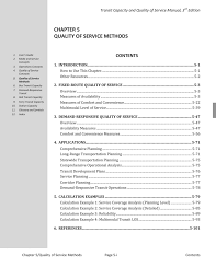 Introduction To Optimum Design 3rd Edition Solution Manual Chapter 5 Quality Of Service Methods Transit Capacity And