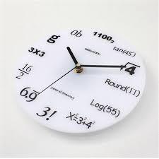 ... Bathroom Wall Clocks Unique Bathroom Clocks Simple White Wall Clock  With Mathematics Formula For ...