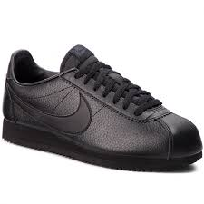 zapatos nike classic cortez leather 749571 002 black black anthracite