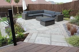 Beautiful Square Grey Patio Area