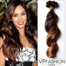 megan fox bright ombre hairstyle look with ombre hair extensions