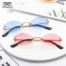 Umanco <b>2019 New Style</b> Rimless Sunglasses For Women Men ...
