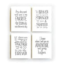 Amazon Winnie The Pooh Quotes Set Of Four Prints Black And Mesmerizing Pooh Quotes