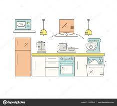 Küchendesign — Stockvektor
