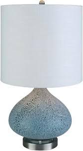 sea glass lamp blue shade for sea glass