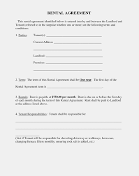 Free Printable Basic Rental Agreement One Platform For Digital