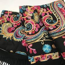 Samikar - Gorgeously embroidered CASHMERE, limited stock available  #cashmere #goat #noosa #hastings #warmth #scarves #samikar #gift #jewelry  #love | Facebook