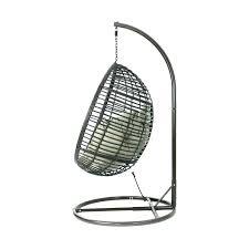 magnolia casual indoor outdoor swing chair wicker basket with stand