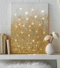 gold glitter wall decor