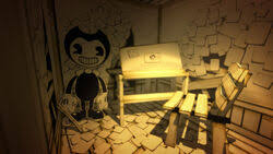 Prototype bendy is a freedom fighter and an ally of henry. Bendy And The Ink Machine Prototype Demo Bendy Wiki Fandom