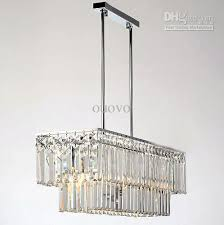 651962cm rectangle crystal polished chrome pipe erected ceiling intended for popular house rectangular crystal chandelier ideas