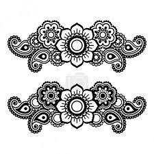 Vektor Mehndi Indická Henna Tetování Vzor Nebo Pozadí 73115803