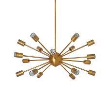 18 light matte black sputnik chandelier