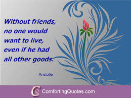Quotes About The Importance Of Friendship Adorable Quote About Importance Of Friends By Aristotle ComfortingQuotes