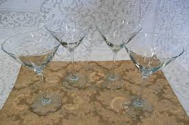 libbey vina fine cocktail glasses martini 10 oz 7 1 4 tall set of 1 of 4only 1 available