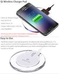 white qi wireless charger charging pad mat dock receiver for samsung galaxy s6 s6 edge qi wireless charger cable