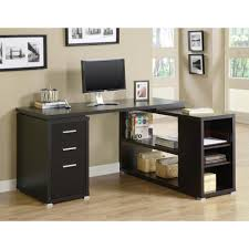 cool home office ideas mixed. Decorating Endearing Home Office L Desk 21 Cappuccino Monarch Desks I 7019 64 1000 Contemporary Cool Ideas Mixed