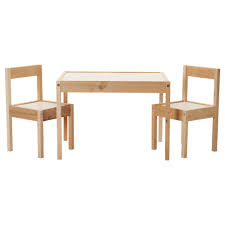 lÄtt children s table and 2 chairs white pine table length 24 3