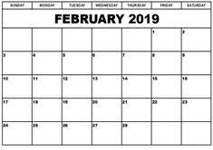 february printable calendar 2019 11 best february 2019 printable calendar images