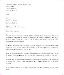 Employee Termination Templates Voluntary Termination Letter Template Askwhatif Co