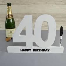 40th birthday signature number